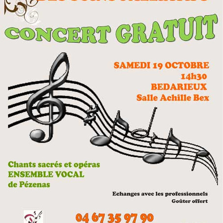 Concert 19 octobre 2013 à Bédarieux