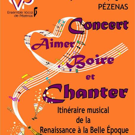 Concert Aimer, Boire et Chanter