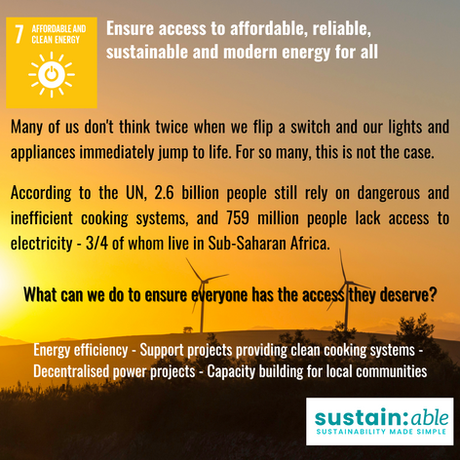 UN Goal 7 – Affordable and clean energy