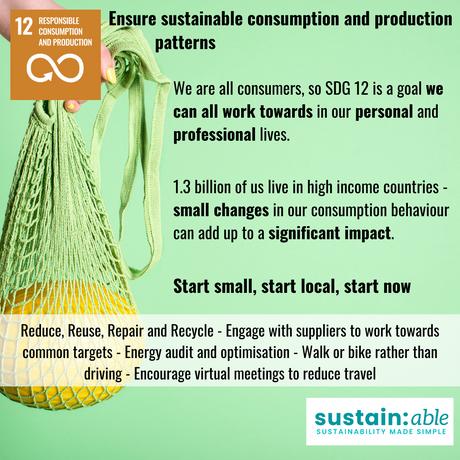 UN Goal 12 – Responsible Consumption and Production
