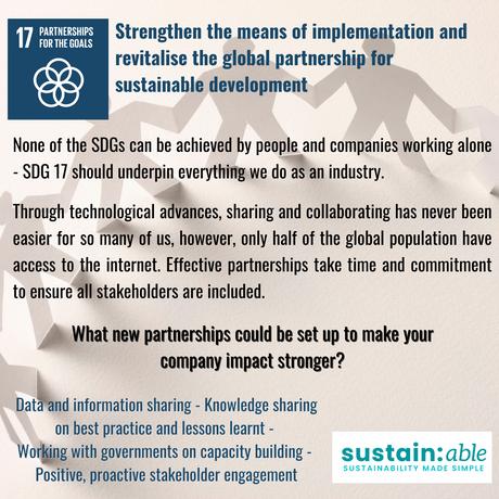 UN Goal 17 – Partnerships for the goals