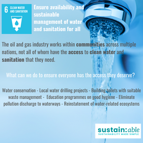 UN Goal 6 – Clean Water and Sanitation