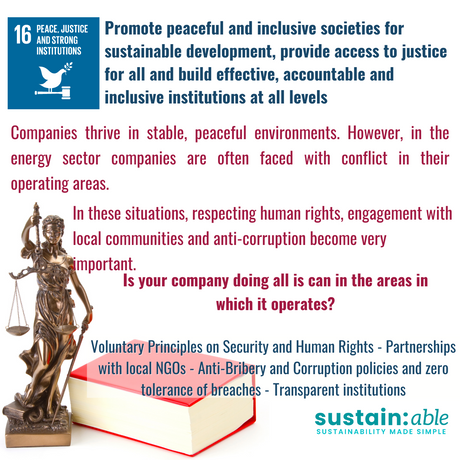 UN Goal 16 – Peace, justice and strong institutions