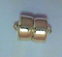 14K Gold Filled 8mm Magnetic Barrel Clasp