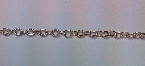 Sterling Silver Small Hammered Cable Chain