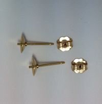 14K Gold Filled  6mm  Post and Cup Earrings