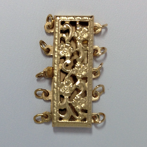 Filigree Rectangular Clasp 5 Row