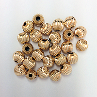 14K Gold Filled Seamless Corrugated Beads