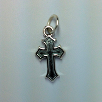 Sterling Silver Thick Inset Cross