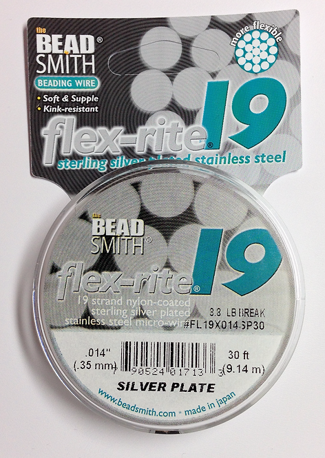 Flex-Rite 19 Sterling Silver Plated Jewelry Wire