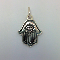 Sterling Silver Thick Hand & Eye Charm