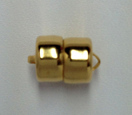 Gold Plated 8mm Magnetic Barrel Clasp