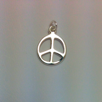 Sterling Silver Small Peace Sign