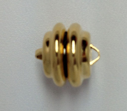 Gold Plated 11mm Ridged Magnetic Clasp