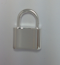 Large Pad Lock Clasp