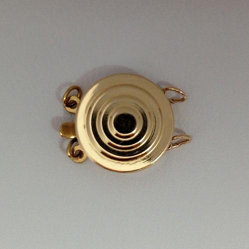 12.5mm Bull's Eye Style 2 Row Clasp