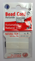 Griffin Bead Cord Silk White