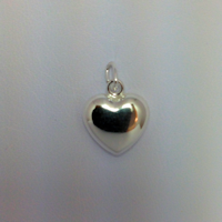 Sterling Silver Large Puffed Heart