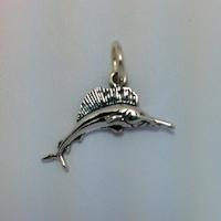 Sterling Silver Sailfish Charm