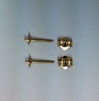 14K Gold Filled  4mm  Post and Cup Earrings