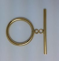 14K Gold Filled Smooth Toggle-15.0mm