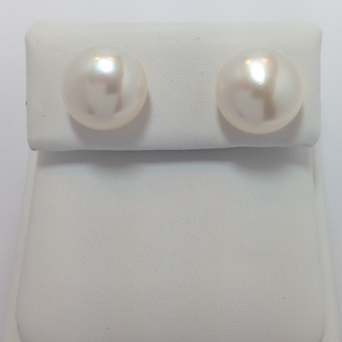 Fresh Water Half Drilled Button Pearls 11-11.5mm