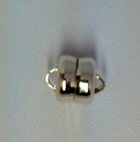 Sterling Silver 6mm Magnetic Barrel Clasp