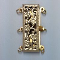 Filigree Rectangular Clasp 3 Row