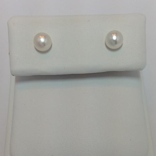 Fresh Water Half Drilled Button Pearls 5-5.5mm