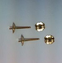 14K Gold Filled 5mm  Post and Cup Earrings