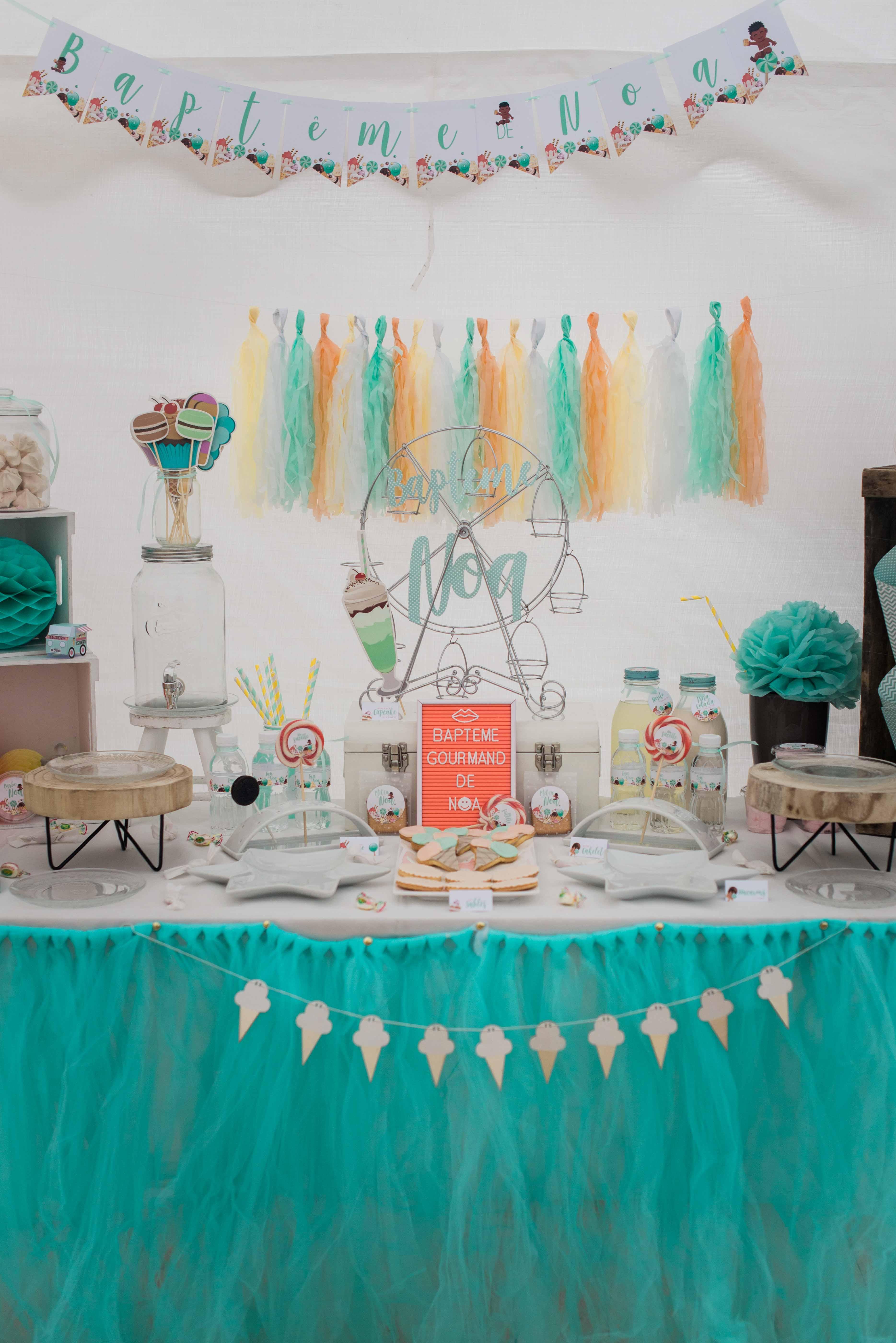 Sweet table baptême gourmand