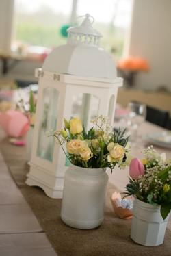 Baptême Aquarelle floral
