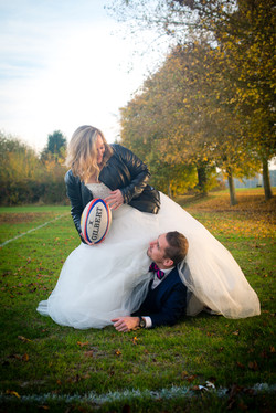 Trash the dress Amour et RugbyL&C