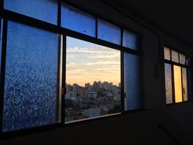 A tiny city through the window