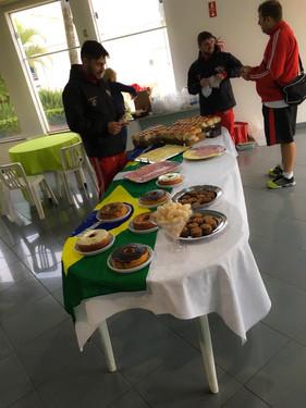 A breakfast for the little soccer team