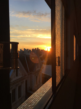 A peek at the sunrise