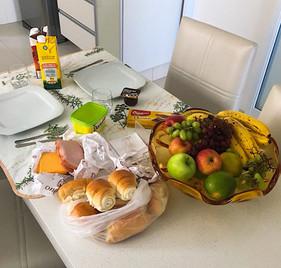 My average breakfast setup