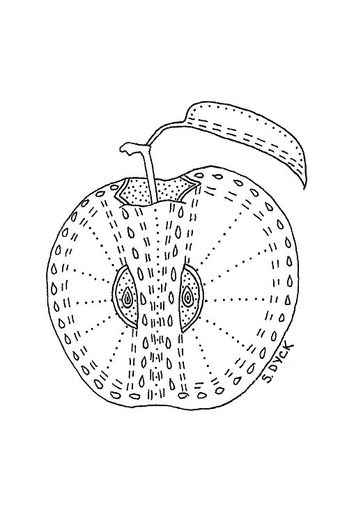 Greeting Card - Apple
