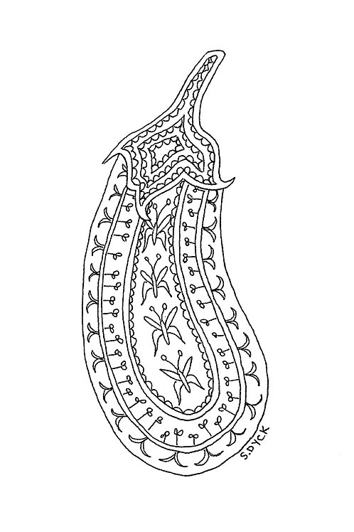 Greeting Card - Eggplant