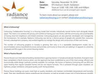 Radiance Cohousing Open House: Saturday, November 10!