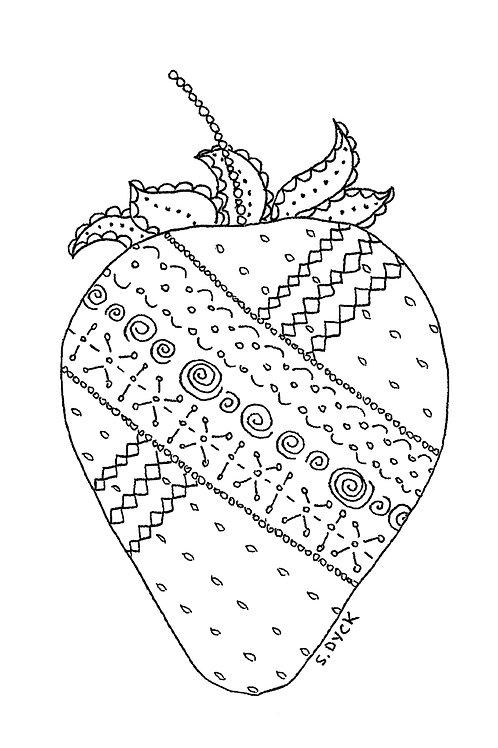 Greeting Card - Strawberry