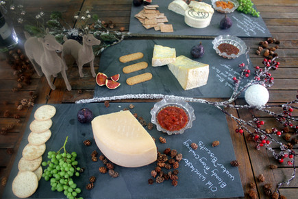 The Cheese Plate wedding cheese slates for a Christmas wedding