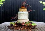The Cheese Plate Christmas themed cheese wedding cake/stacks