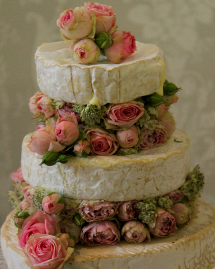 Brie wedding cake by sharon struckman