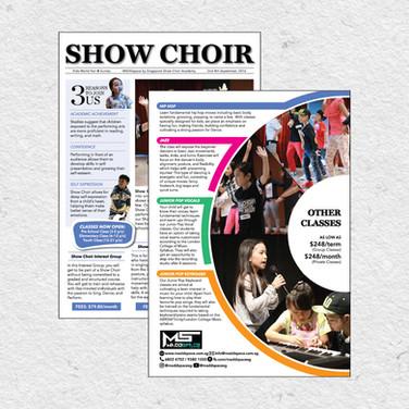 Pamphlet, brochure design for an event
