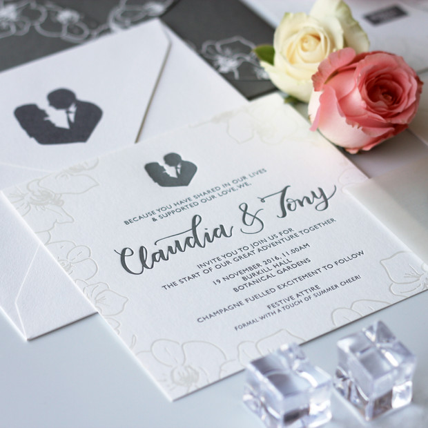 Luxurious Invitation With Letterpress & Foil