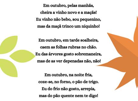 A poesia vai à escola - Outubro