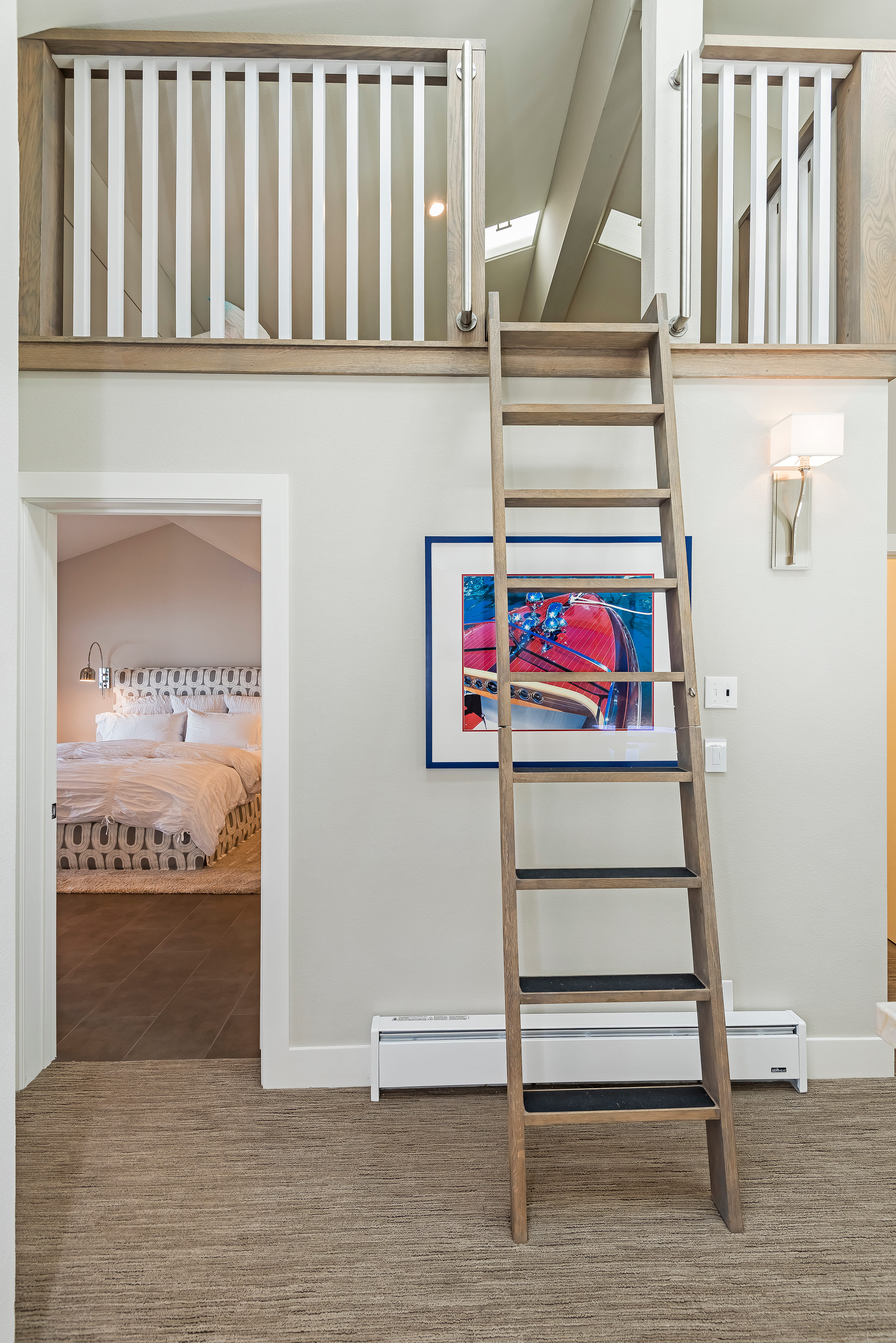 Ladder to Sleeping Loft