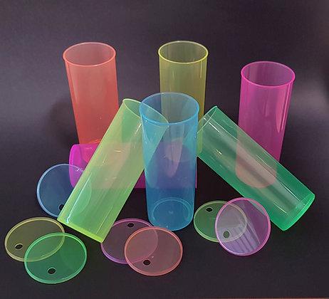 Paquete 70 vasos traslucidos