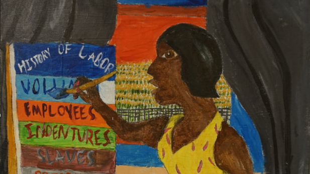 Bill Traylor's and My World Exhibition of student art